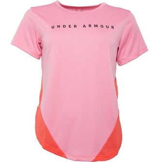 Under Armour Womens Armour Sport Mesh Top Pink