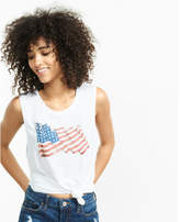 Express American Flag Muscle Tank