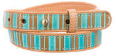 Mayle Striped Leather Belt