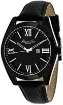 Kenneth Cole Classic 10023858 Women's Round Black Leather Watch
