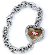 Game Time NFL Women'sNFL-HEA-SF Heart Collection San Francisco 49ers Watch