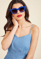 Worth Its Weight in Bold Sunglasses in Cobalt