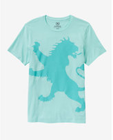 Express mint giant lion graphic t-shirt