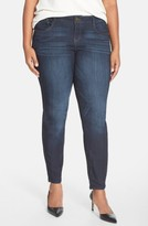 Nordstrom Plus Size Women's Wit & Wisdom 'Super Smooth' Stretch Skinny Jeans