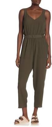 Cotton On Jillian Sleeveless Belted Woven Jumpsuit