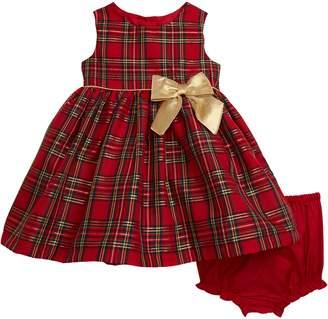 Frais Metallic Tartan Party Dress