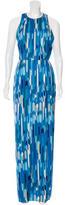 Lela Rose Geo- Print Maxi Dress