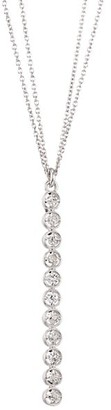 Renee Lewis 18K White Gold & Diamond Linear Pendant Necklace
