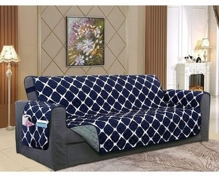 Elegant Comfort 2-Tone Bloomingdale Pattern Quilted Loveseat Furniture Protector