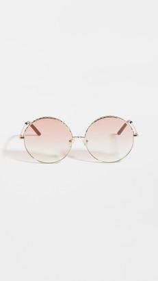 Linda Farrow Luxe Linda Farrow Geranium Round Sunglasses