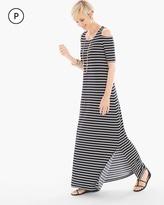 Chico's Cold-Shoulder Striped Maxi Dress