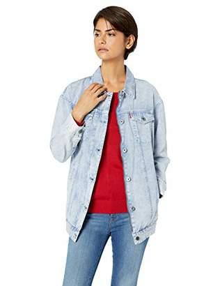 Levi's Women's Oversized Long Cotton Trucker Jacket