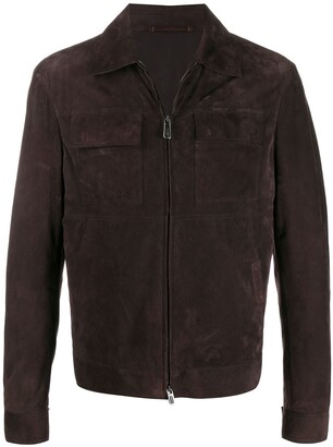 Ermenegildo Zegna Xxx Zipped-Up Leather Jacket