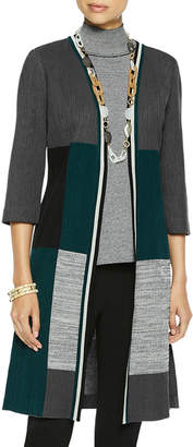 Misook Plus Size Colorblock Knit Duster