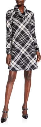 Chetta B Detachable Cowl-Neck Hatchi Dress