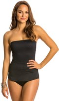 Gottex Diamond in the Rough Bandeau Draped One Piece Swimsuit 8130291