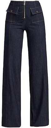 Cinq à Sept Azure High-Rise Wide-Leg Jeans