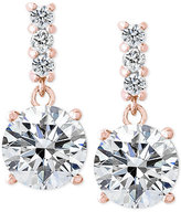 Giani Bernini Cubic Zirconia Drop Earrings in 18k Rose Gold-Plated Sterling Silver, Only at Macy's