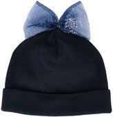 Federica Moretti bow detail beanie - women - Cotton/Polyester - One Size
