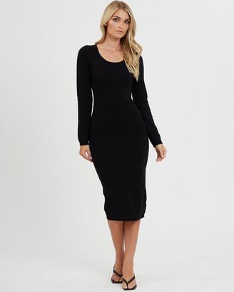 Calli Brando Fitted Midi Dress