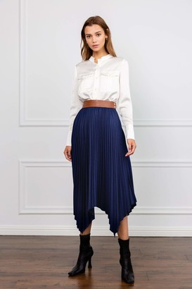 J.ING Lynch Blue Handkerchief Midi Skirt