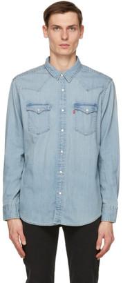 Levi's Levis Blue Denim Barstow Western Shirt