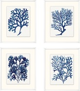 The Well Appointed House Set of Four Indigo Sea Life Framed Wall Art