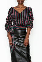 Do & Be Do-Be Stripe Wrap Top