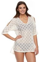 Porto Cruz Women's Portocruz Lace Cold-Shoulder Cover-Up
