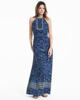 White House Black Market Embellished Printed Maxi Dress