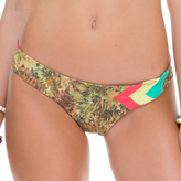 Luli Fama Tri Color Wavey Back Ruched Bottom In Multicolor (L51604C)