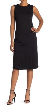 T Tahari Sleeveless Ponte Knit Midi Dress