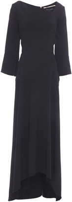 Roland Mouret Asymmetric Stretch-crepe Midi Dress