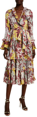 Alexis Wiera Printed Wrap Dress