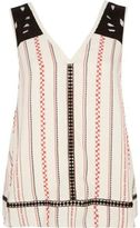 River Island Womens Cream print festival tank top
