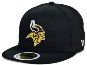 New Era Little Boys Minnesota Vikings Draft 59FIFTY Fitted Cap