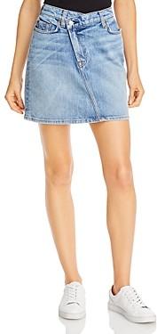7 For All Mankind Asymmetrical Denim Skirt