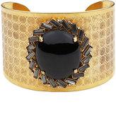 Wide Stone Cuff Bracelet