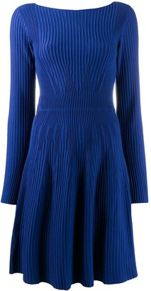 Emporio Armani Textured Long-Sleeved Dress