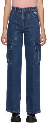 MSGM Blue Cargo Jeans