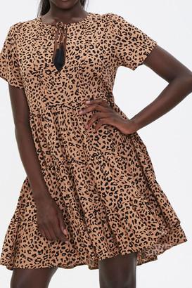Forever 21 Sleeveless Cheetah Print Romper