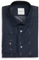 Paul Smith Trim Fit Tree Jacquard Dress Shirt