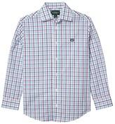Lauren Ralph Lauren Kids Kids Gingham Dress Shirt (Big Kids) (Pink/Blue) Boy's Clothing