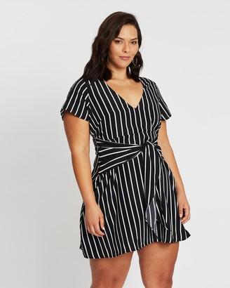 Atmos & Here Jalda Tie Front Dress