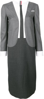 Thom Browne Trompe L'Oeil Super 120s Suit Dress