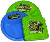 Disney Marvels Teenage Mutant Ninja Turtles Breakfast, Lunch, Dinner, Snack Dish Set. 3 Piece Set