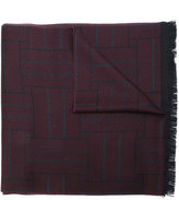 Versace two-tone frayed scarf