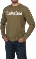 Timberland Linear Logo T-Shirt - Long Sleeve (For Men)