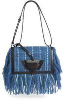 Loewe Barcelona Fringe Tweed Shoulder Bag