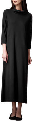 Joan Vass Petite Turtleneck Maxi Dress, Black